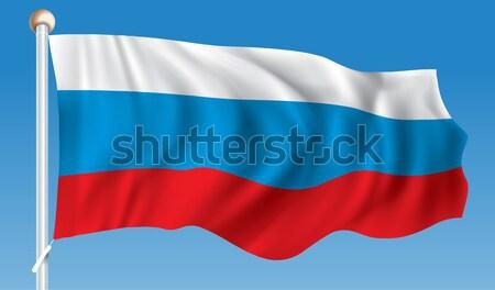 Bandiera Russia mare design viaggio silhouette Foto d'archivio © ojal
