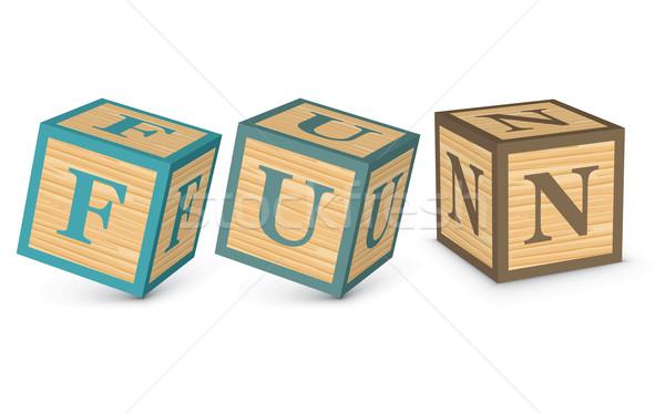 Stock photo: Word FUN written with alphabet blocks