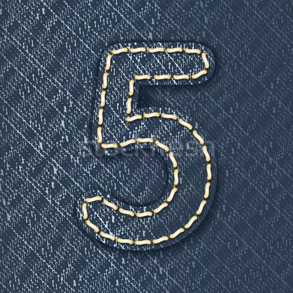 Numara kot kumaş mektup bez güzel Stok fotoğraf © ojal