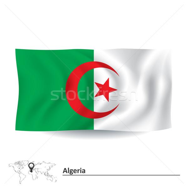 флаг Алжир карта аннотация Мир кадр Сток-фото © ojal