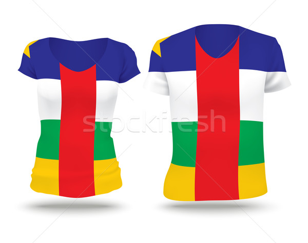 Flag shirt design of Central African Republic Stock photo © ojal