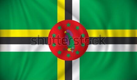 Bandeira Dominica mapa abstrato viajar ilha Foto stock © ojal