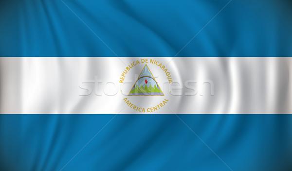 Bandeira Nicarágua mundo montanha viajar lago Foto stock © ojal