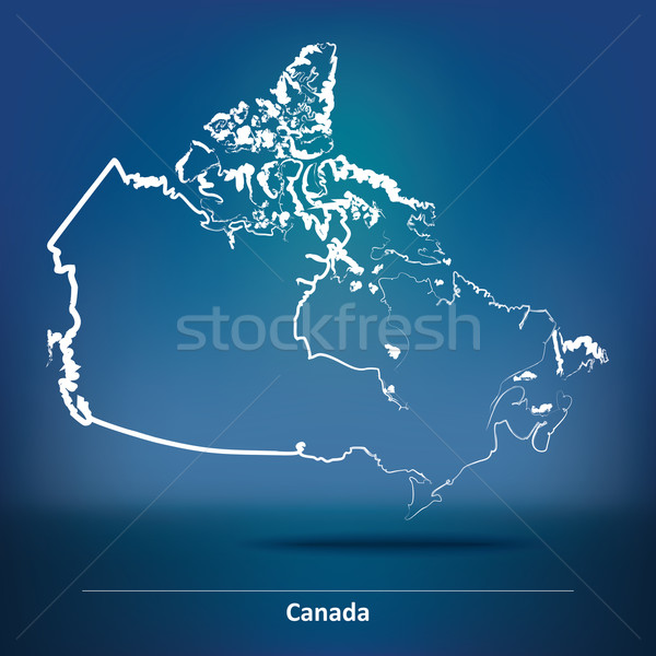 Doodle Map of Canada Stock photo © ojal