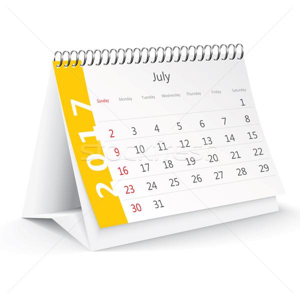 July 2017 desk calendar Stock photo © ojal