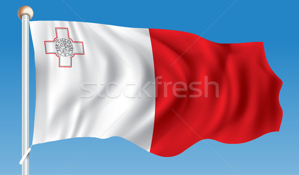 Bandera Malta textura viaje viento banner Foto stock © ojal