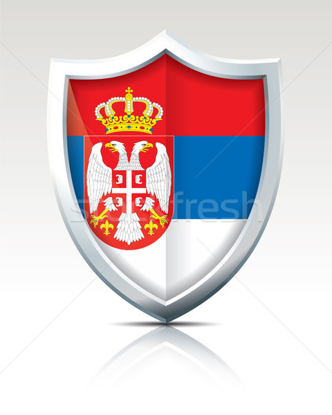 Shield with Flag of Serbia Stock photo © ojal