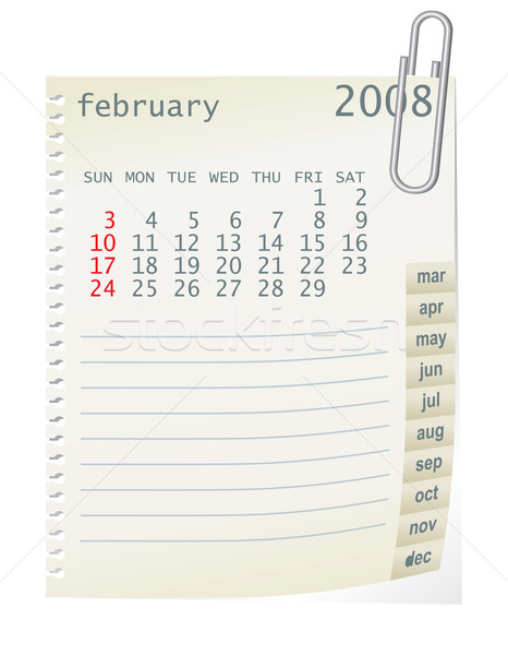 february 2008 Stock photo © ojal