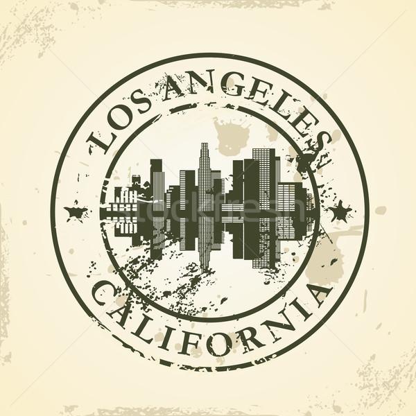 Grunge Los Angeles California biuro słońce Zdjęcia stock © ojal
