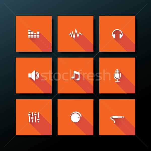 Vector audio business internet ontwerp Stockfoto © ojal