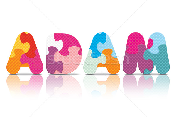 Vector ADAM written with alphabet puzzle Stock photo © ojal