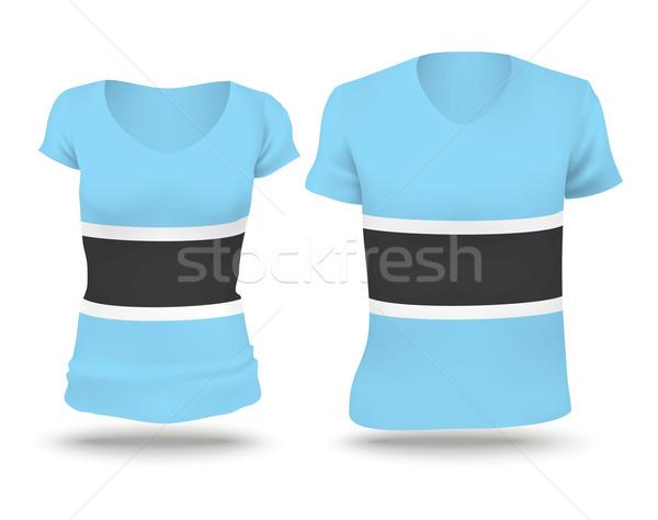 Flag shirt design of Botswana Stock photo © ojal