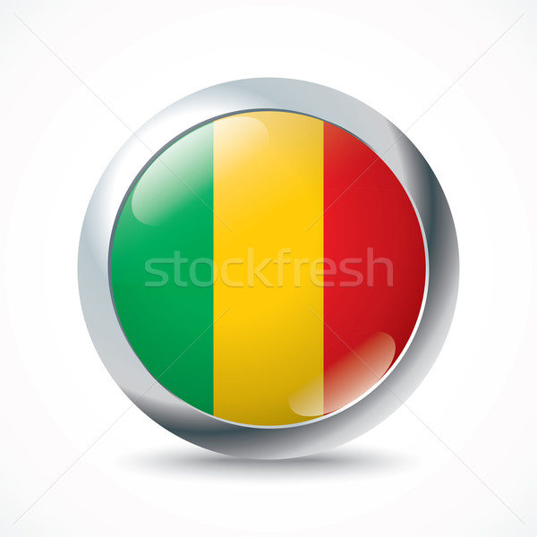 Mali flag button Stock photo © ojal