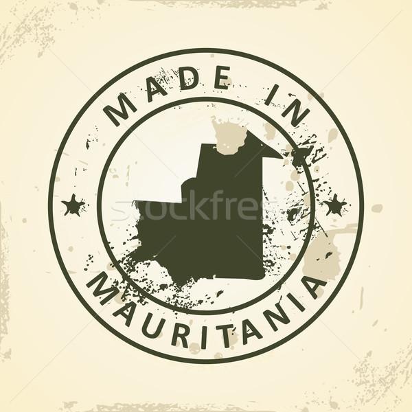 スタンプ 地図 モーリタニア グランジ 世界 にログイン ストックフォト © ojal