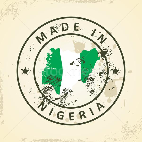 Zdjęcia stock: Pieczęć · Pokaż · banderą · Nigeria · grunge · świat