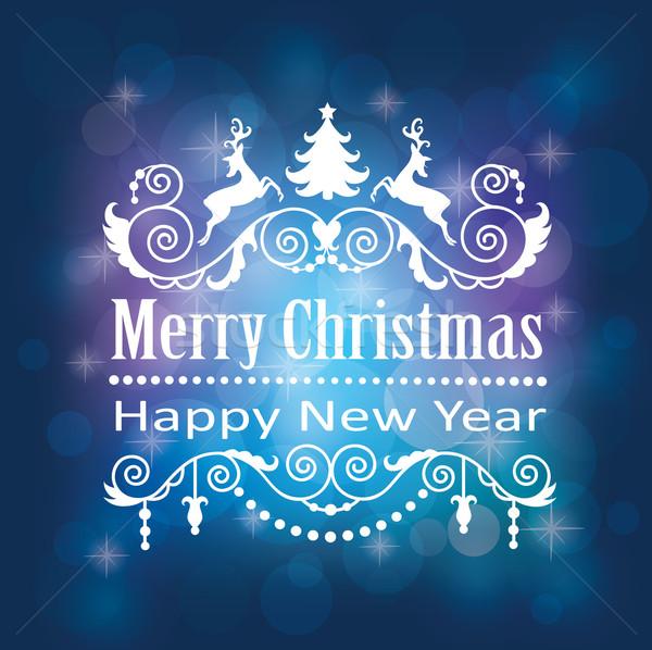 Karácsony vidám boldog új évet kártya Stock fotó © oksanika