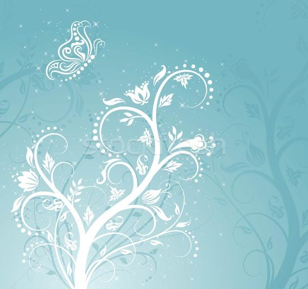 магия шаблон цветочным узором бабочка природы свет Сток-фото © oksanika