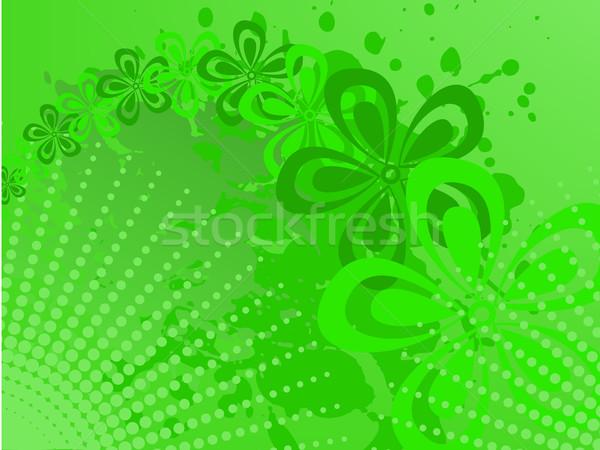 зеленый полутоновой аннотация цветы спрей дизайна Сток-фото © Oksvik