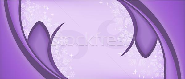 Púrpura simétrico Navidad feliz resumen Foto stock © Oksvik
