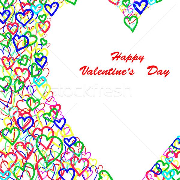 Colorful hearts Stock photo © Oksvik