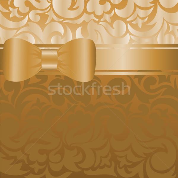 градиент коричневый красивой лук лента аннотация Сток-фото © Oksvik