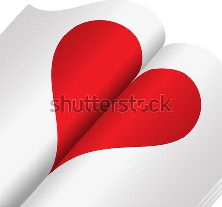 сердце ноутбук красный открытых книга Сток-фото © Oksvik