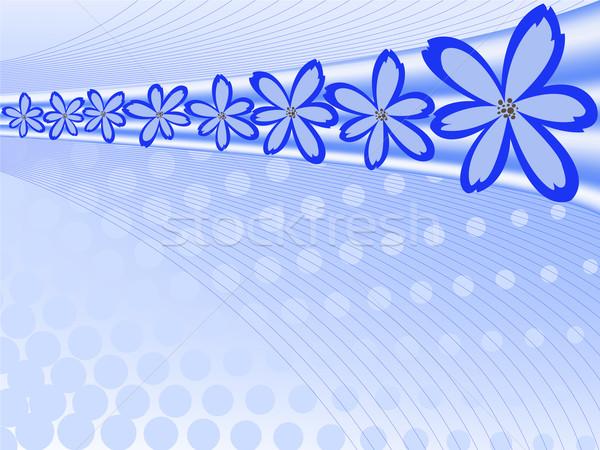 abstract blue background Stock photo © Oksvik