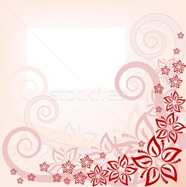 Roze abstract vector tuin Stockfoto © Oksvik