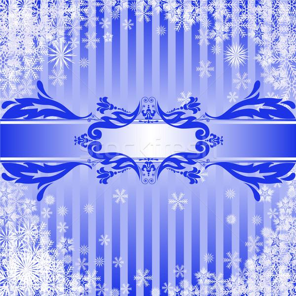 Mavi Noel bant parti ışık Stok fotoğraf © Oksvik