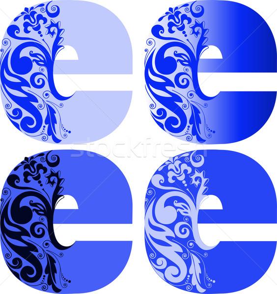 набор письма четыре различный цвета цветы Сток-фото © Oksvik