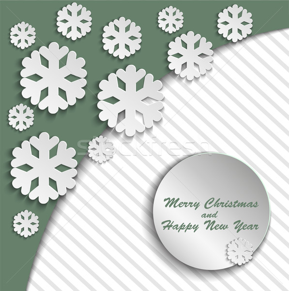 Stock photo: Green Christmas card