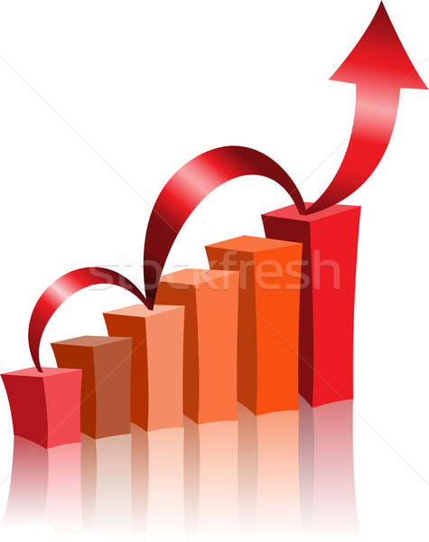 graph with an arrow Stock photo © Oksvik