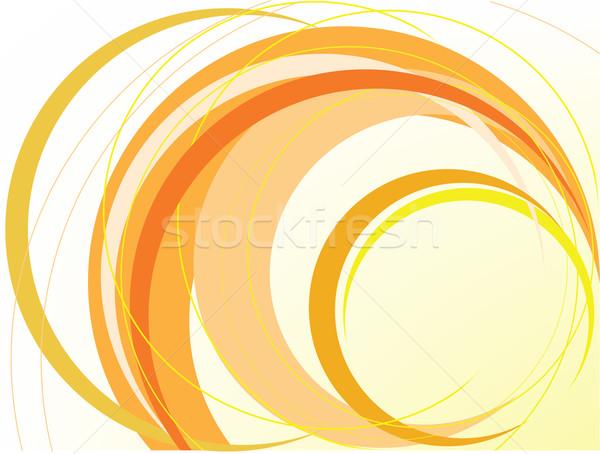 Abstract oranje ringen computer textuur Stockfoto © Oksvik