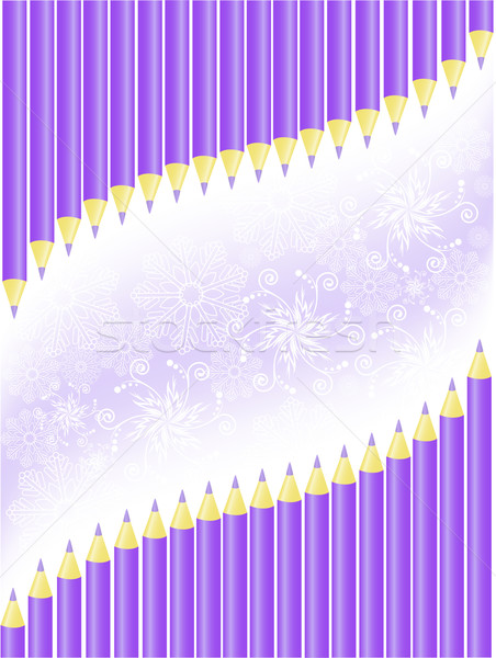 background of purple crayons Stock photo © Oksvik