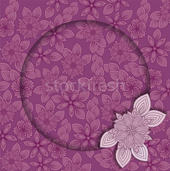çerçeve güzel çiçek dizayn metin Stok fotoğraf © Oksvik