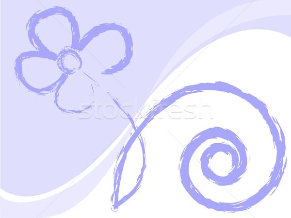 çiçek tebeşir beyaz soyut Stok fotoğraf © Oksvik