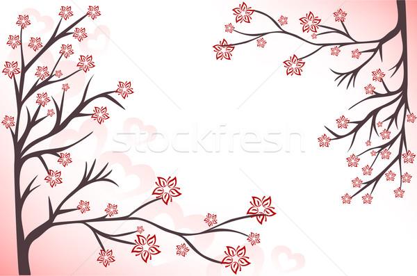 розовый аннотация цветения сердцах весны Сток-фото © Oksvik