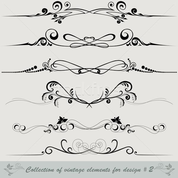 Collectie vintage communie ontwerp abstract frame Stockfoto © Oksvik