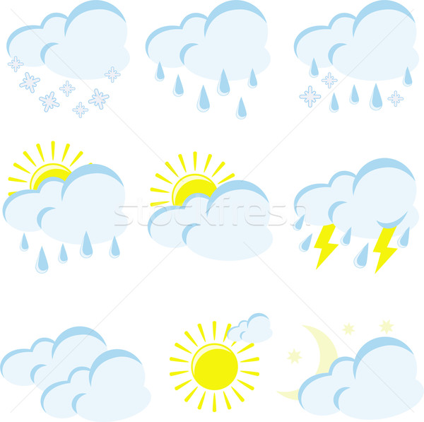 set of weather icons Stock photo © Oksvik