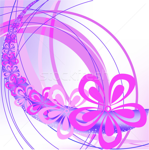abstract background with arches and flowers Stock photo © Oksvik