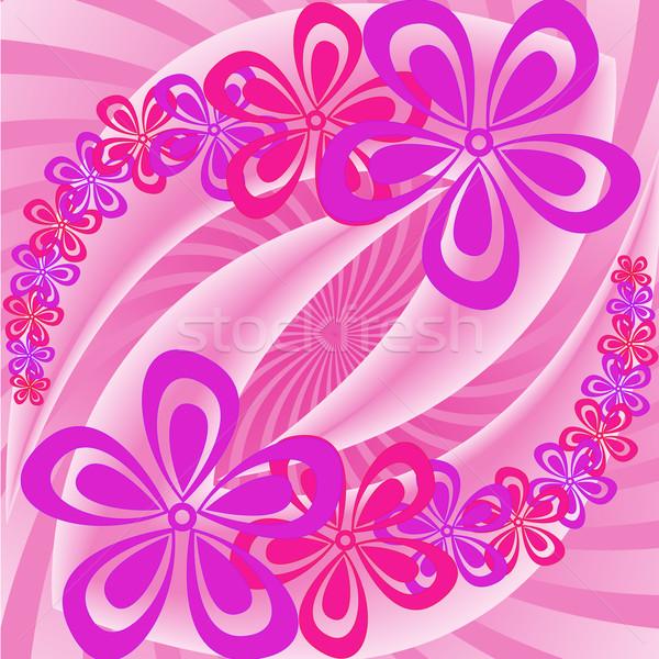 Roze paars bloemen lavendel abstract achtergrond Stockfoto © Oksvik