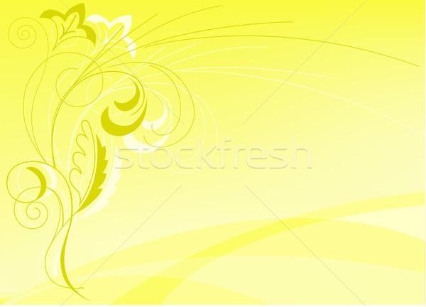 аннотация желтый цветочный Элементы компьютер цветок Сток-фото © Oksvik