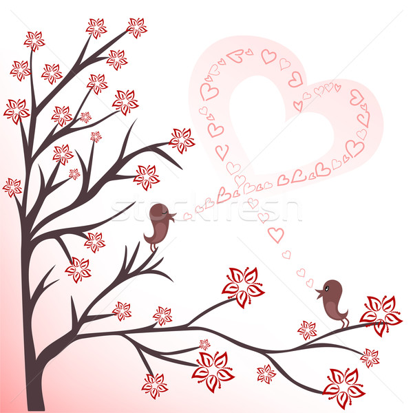 Stock photo: love birds