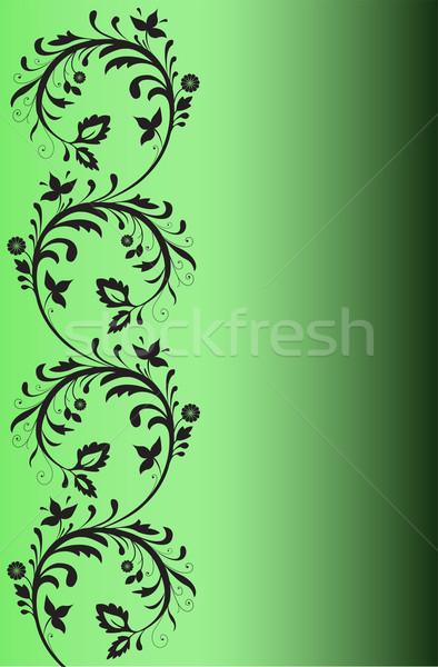 Siyah model yeşil dizayn eğim Stok fotoğraf © Oksvik