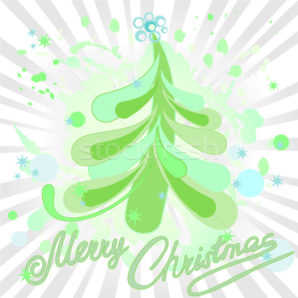 Foto stock: árbol · aerosol · árbol · de · navidad · arte · invierno · graffiti