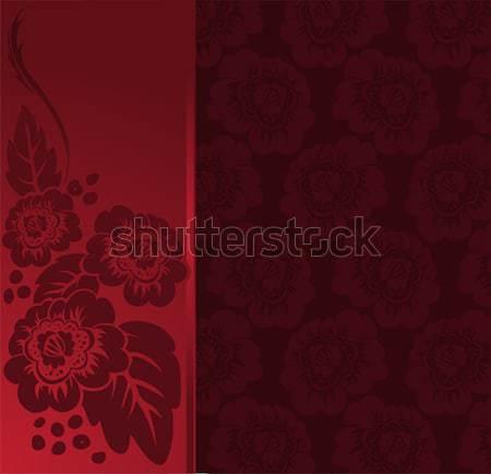 красный красные цветы вертикальный текстуры аннотация лист Сток-фото © Oksvik