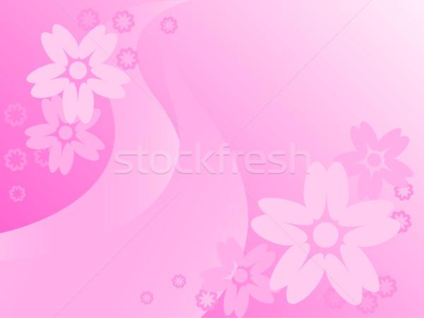 Bloemen roze abstract achtergrond kleuren tekening Stockfoto © Oksvik