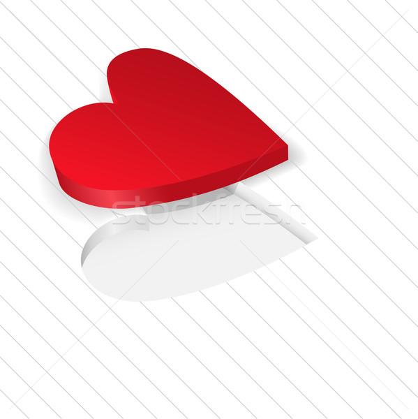 red heart on a white Stock photo © Oksvik