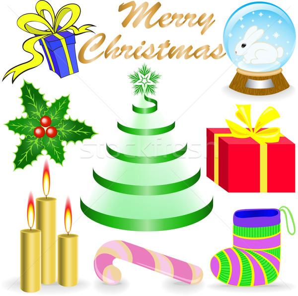 Christmas acht mooie iconen Stockfoto © Oksvik