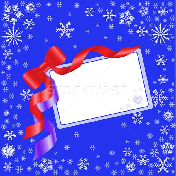 Mavi kart yay kırmızı beyaz Stok fotoğraf © Oksvik